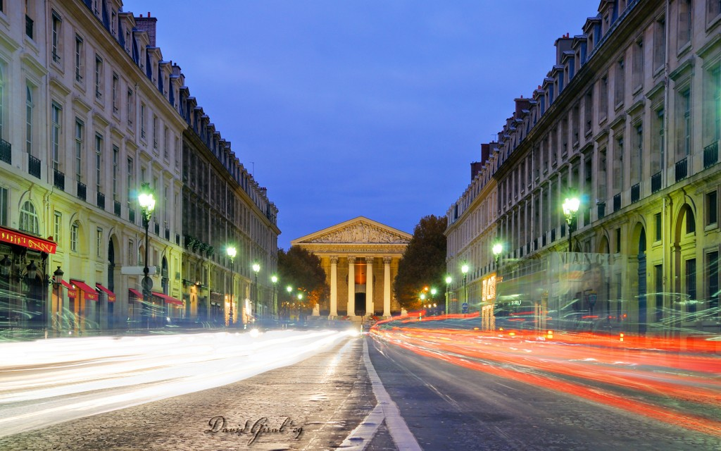 Place de la Madeleine and rue Royale viewed from Place de la Concorde
