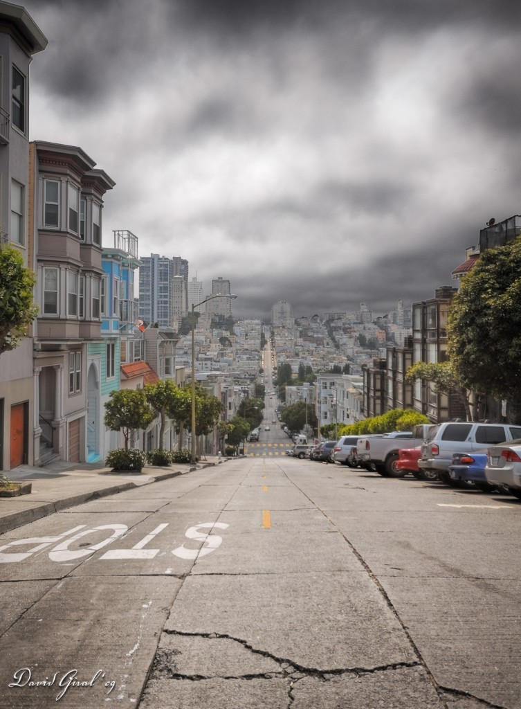 Hilly Streets of San Francisco, California, USA