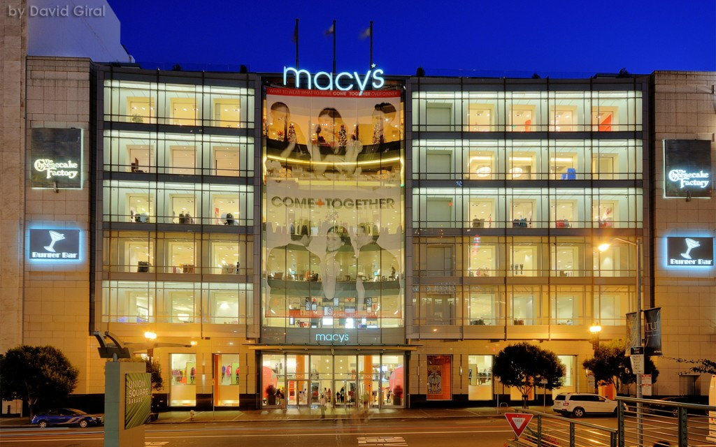 Macy's Store at the Blue Hour, San Francisco, California, USA