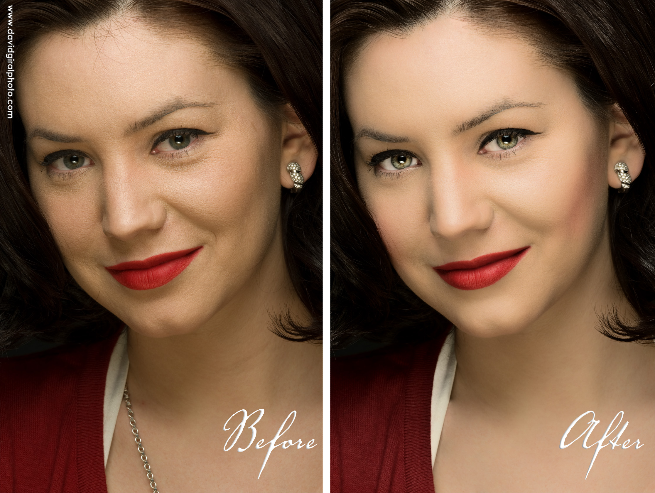 Robyn Photoshop Makeover Before/After, by David Giral
