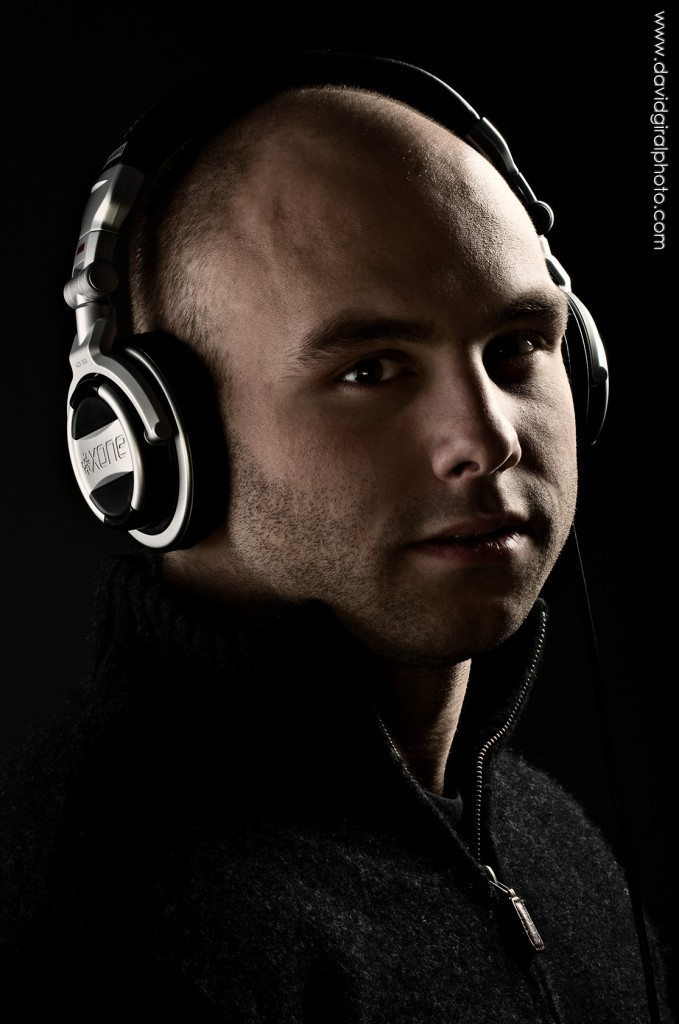 Headshot: portrait of DJ Scott James | by David Giral