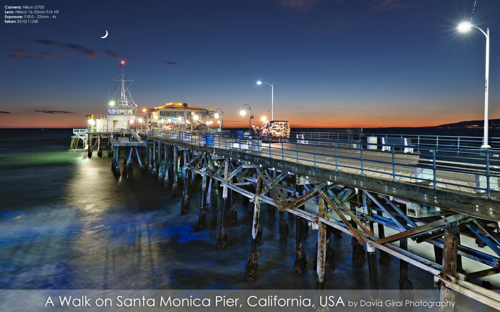 Santa Monica Pier at the blue hour, California by David Giral