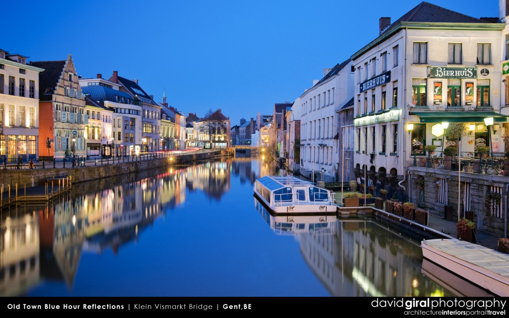 Weekly Facebook Cover Photo: blue hour reflections on Gent, Belgium