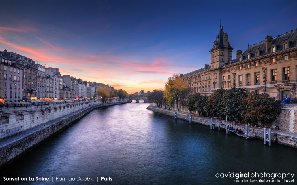 Weekly Facebook Cover Photo: Beautiful Sunset on La Seine, Paris
