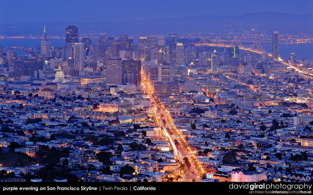 Weekly Facebook Cover Photo: Purple Hour on San Francisco Skyline