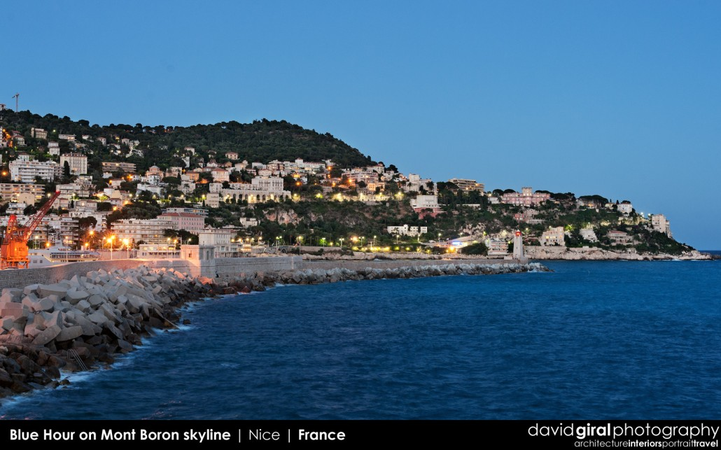 Weekly Facebook Cover Photo: Blue Hour on Mont Boron Skyline, Nice, France