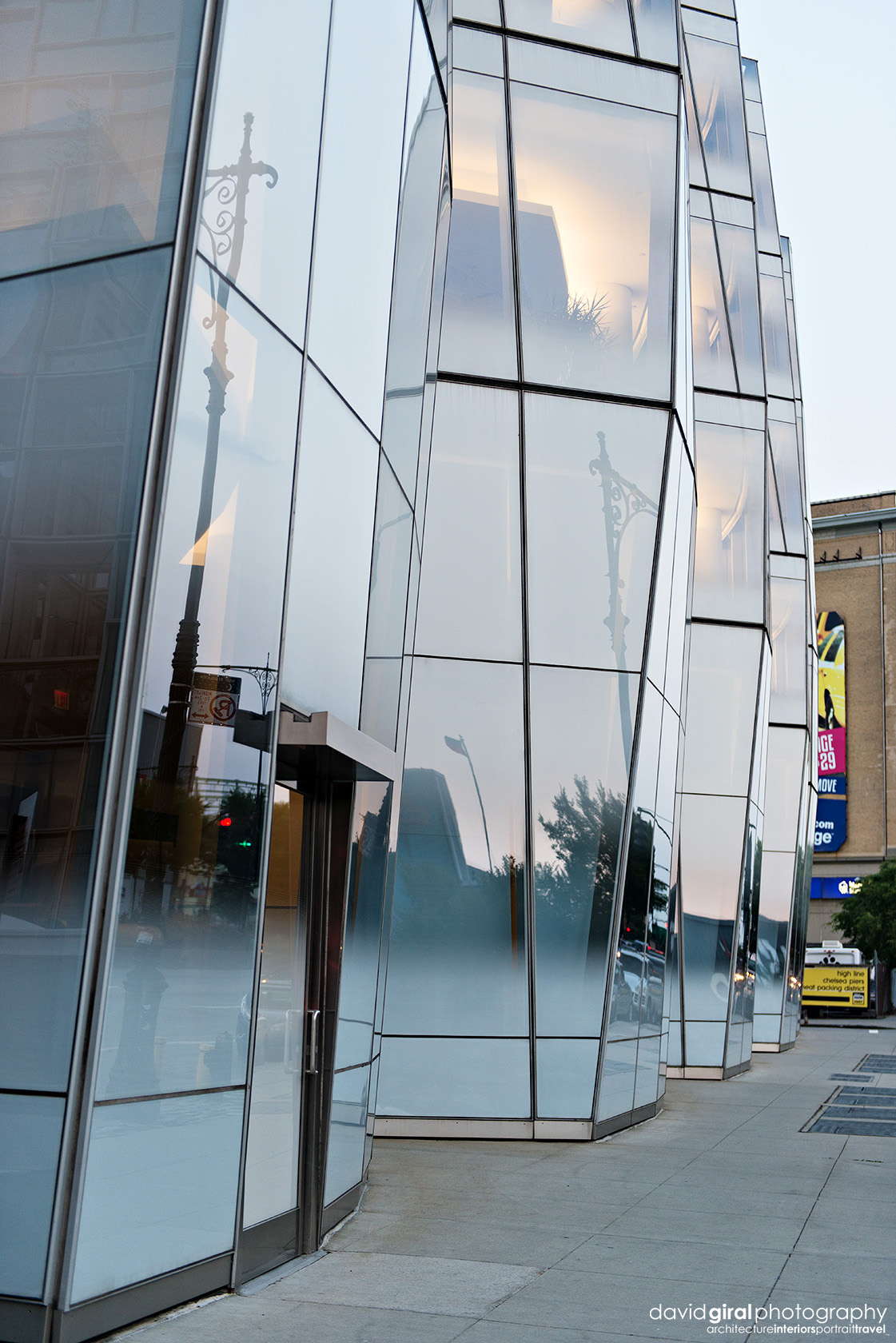 IAC Building detail at dusk by architect Frank Ghery Nikon D800 + Nikkor 24-70mm F/2.8 GI @ 50mm | ISO400 - 1/250s - F/2.8