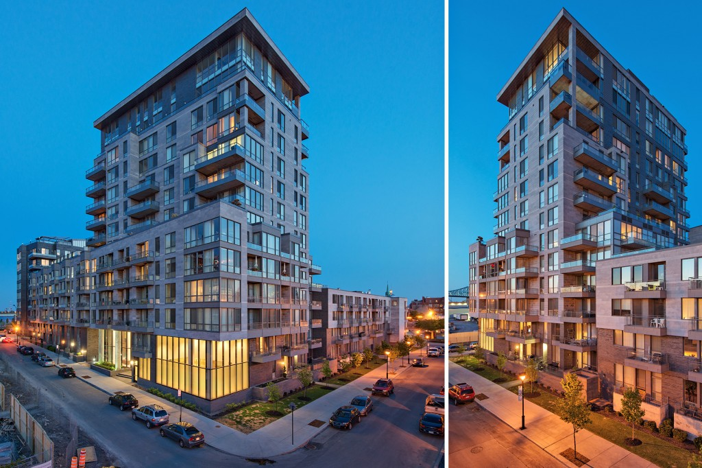 architecture photography: Solano F2B Condo appartment building in Old Montreal by Groupe Marchand Architects