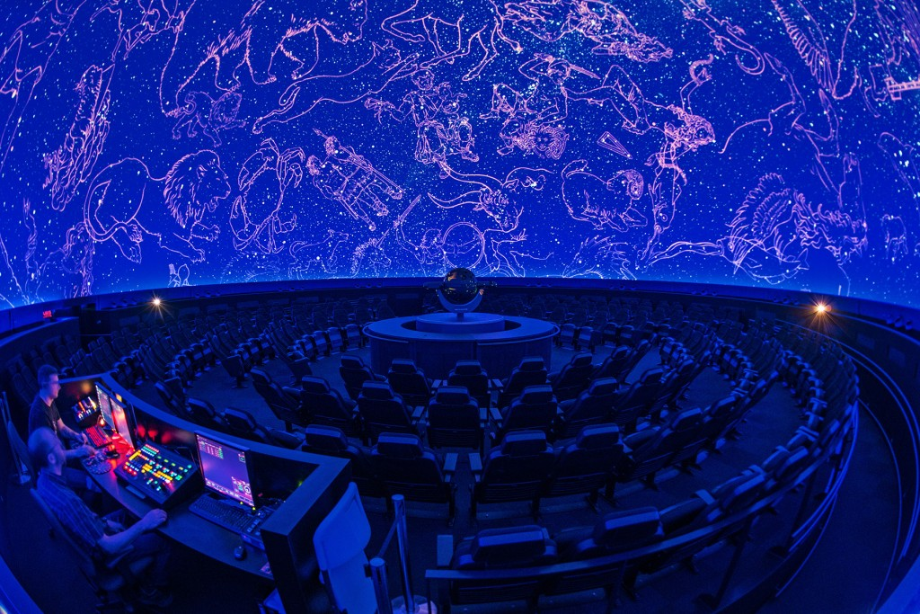 Rio Tinto Alcan Planetarium - Projection Room - Interiors Photography Montreal