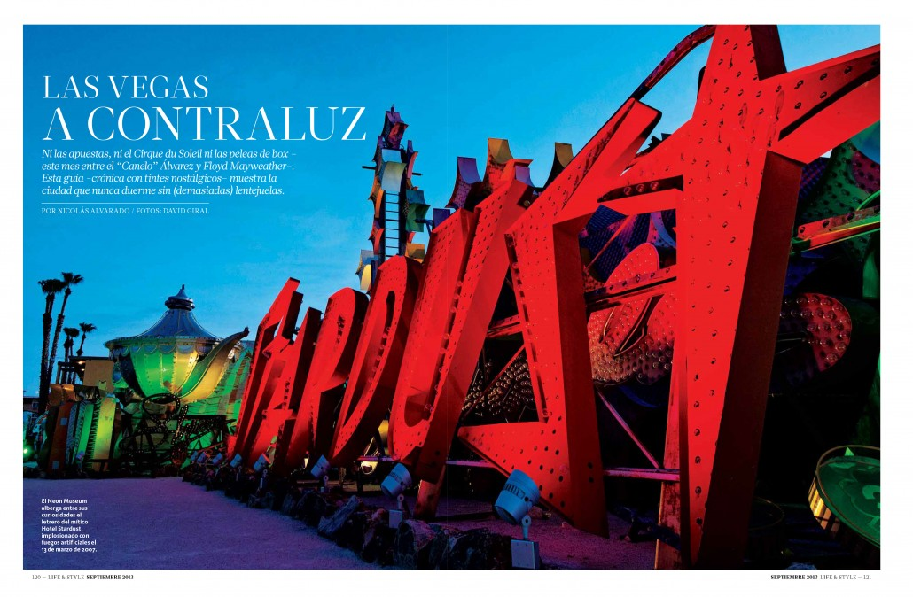 Just Off the Press: Las Vegas A Contraluz in Life & Style Magazine Mexico