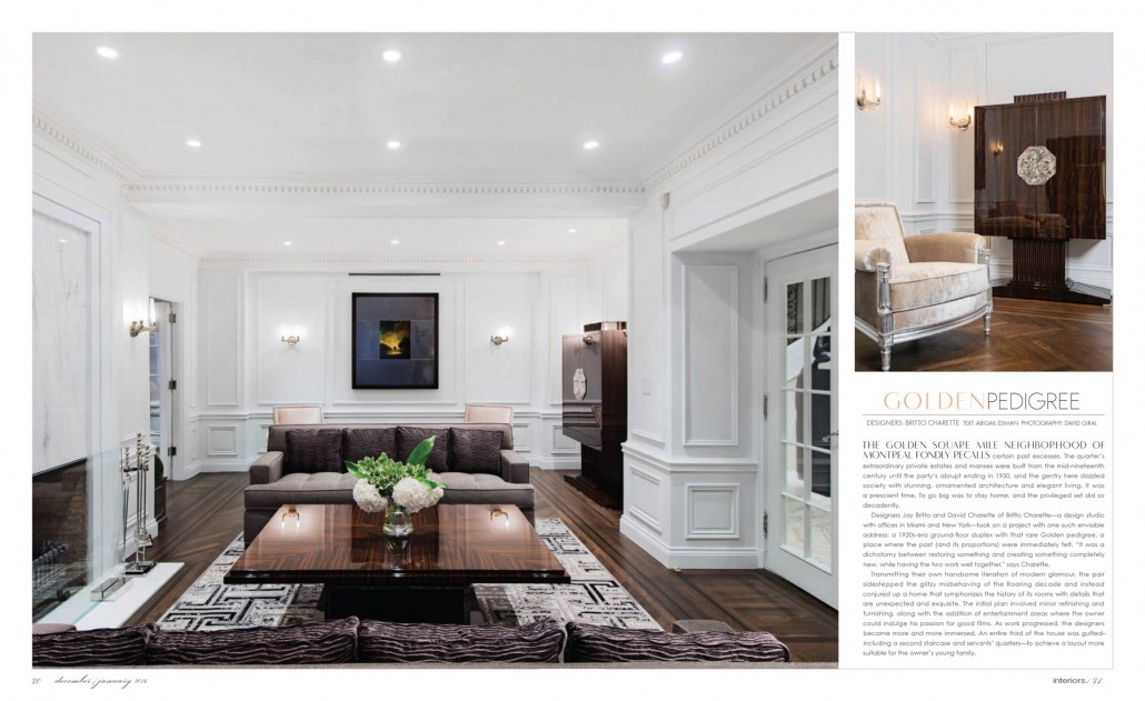 Just Off the Press: 1920s-era duplex in Interiors Magazine December 2013