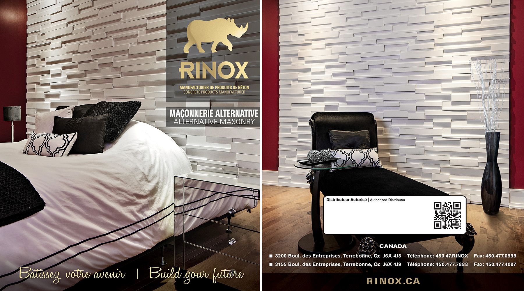 Commercial Architectural Photography : Cover Catalog Alternative Masonry Rinox 2014