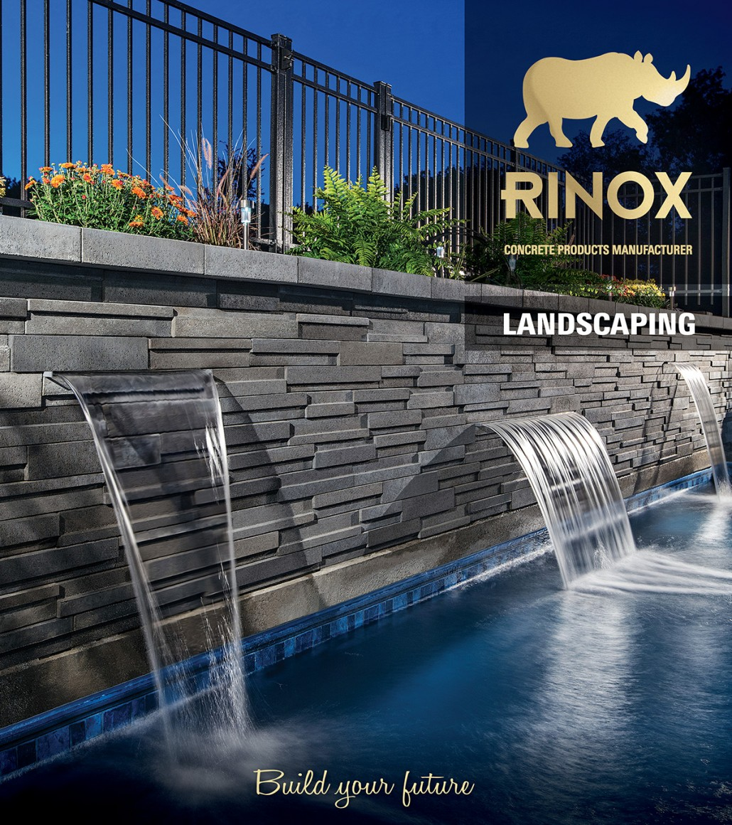 Just Off the Press: Masonry catalog covers for Rinox Canada