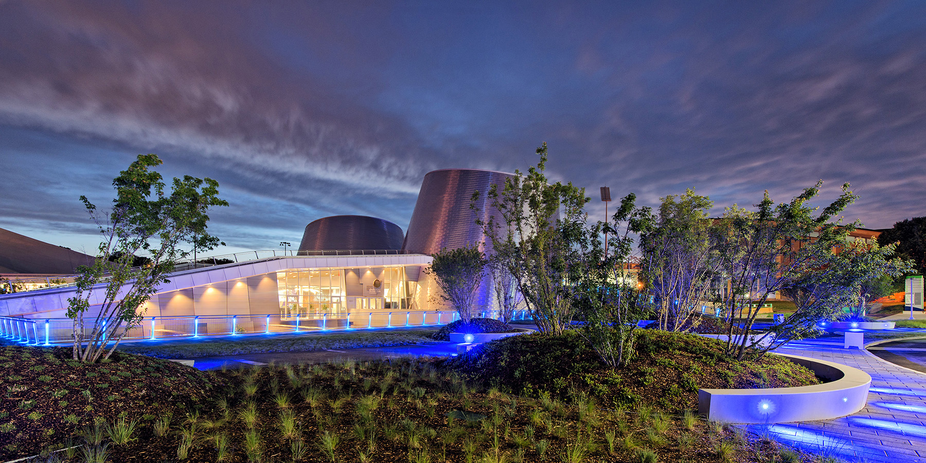Architecture Photography: Montreal Rio Tinto Alcan Planetarium at the blue hour