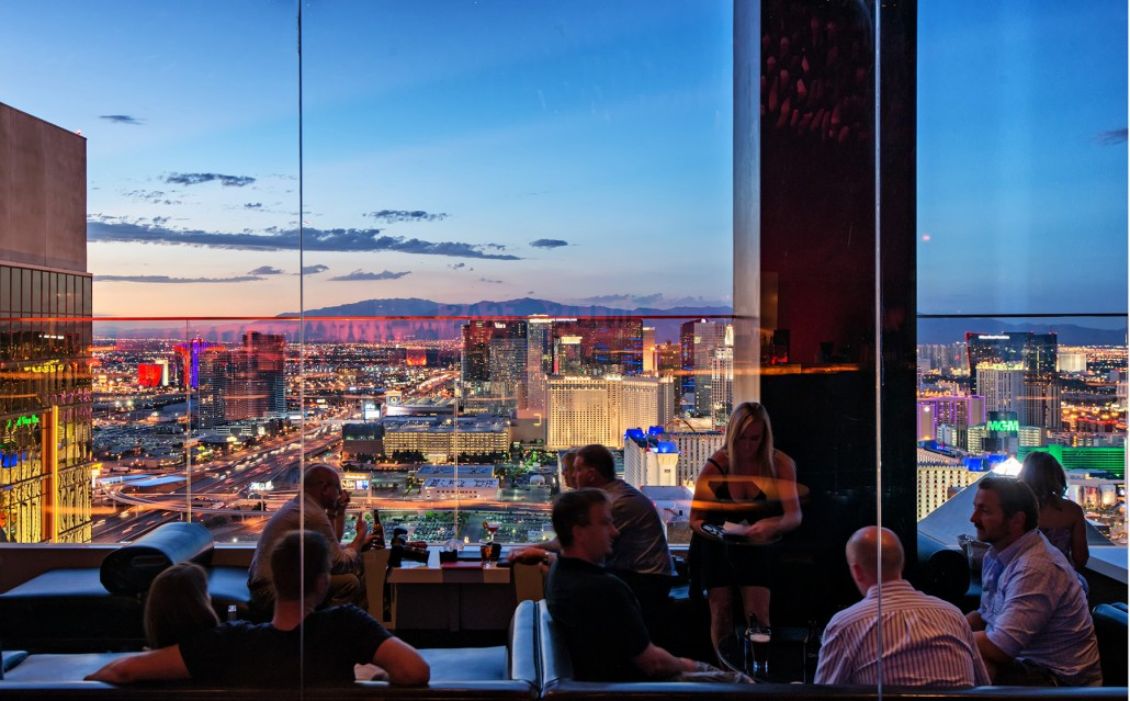 Explore Las Vegas: A Stunning view of the Strip from TheHotel MiX Lounge