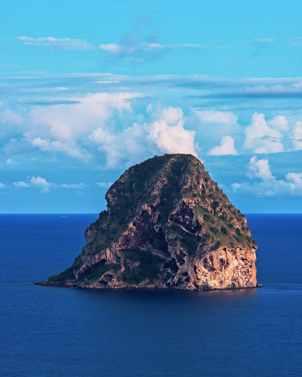Rocher du Diamant / Diamond Rock at Dusk, Martinique, France