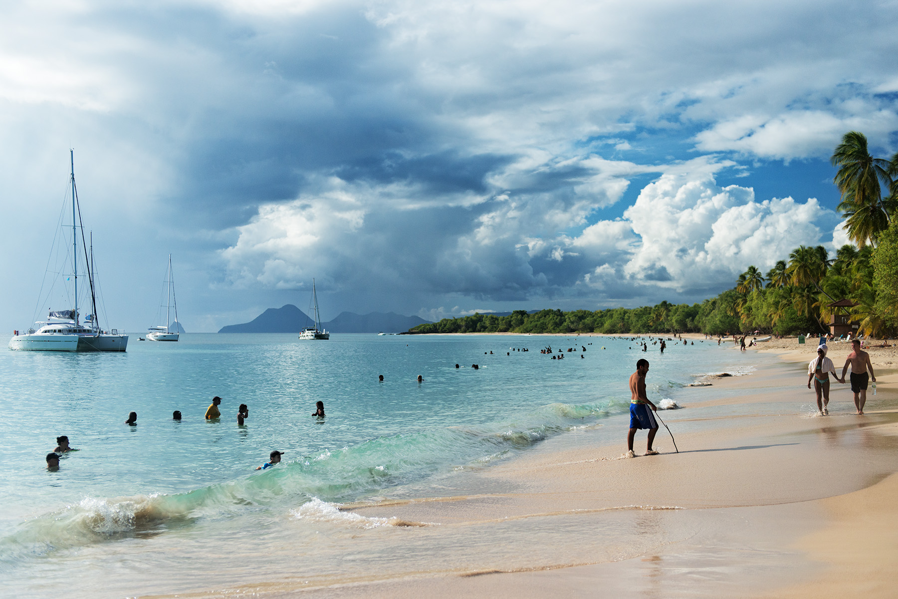 Plage de Saint-Anne beach, Martinique, France