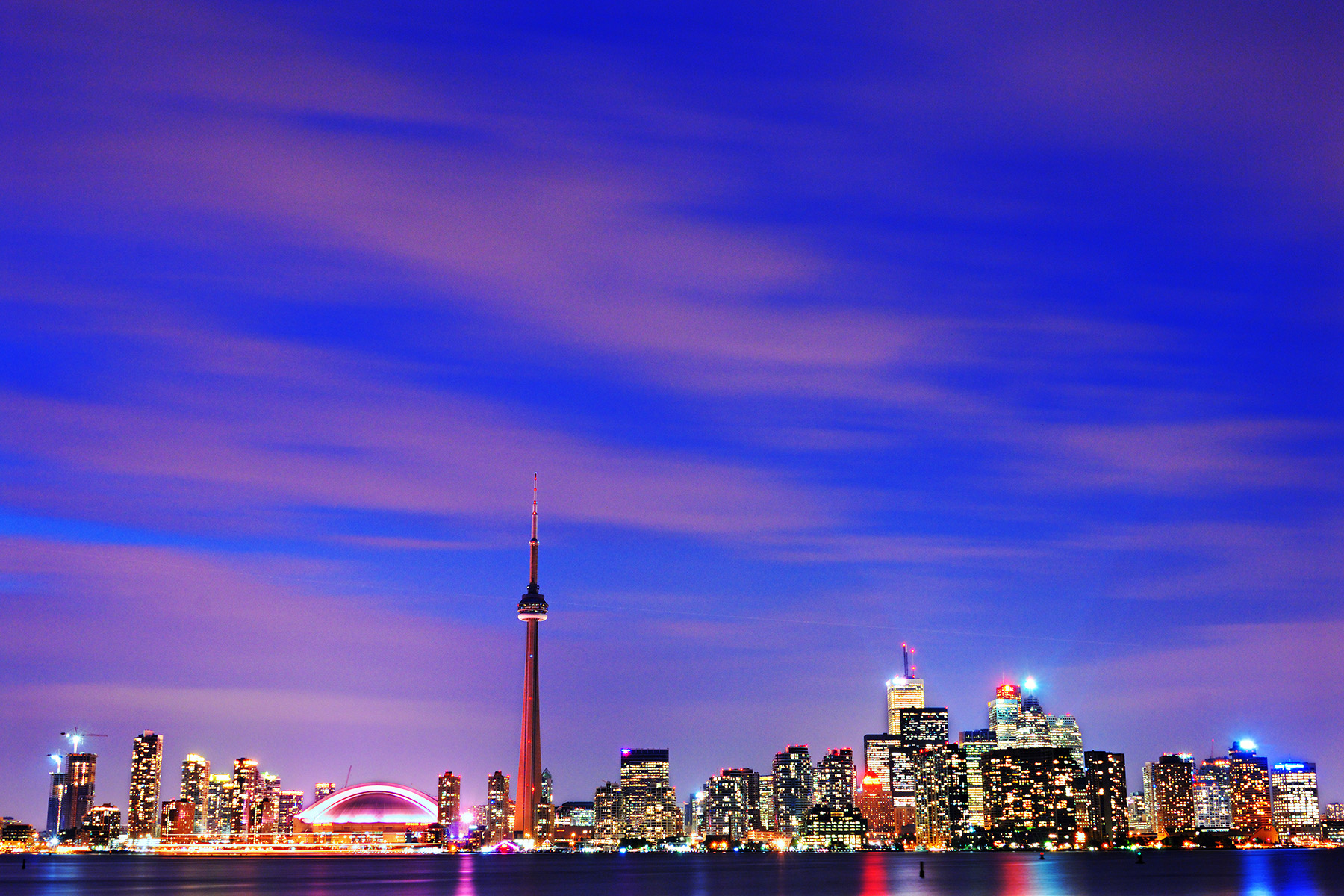 Beautiful Evening on Toronto Skyline , Ontario, Canada