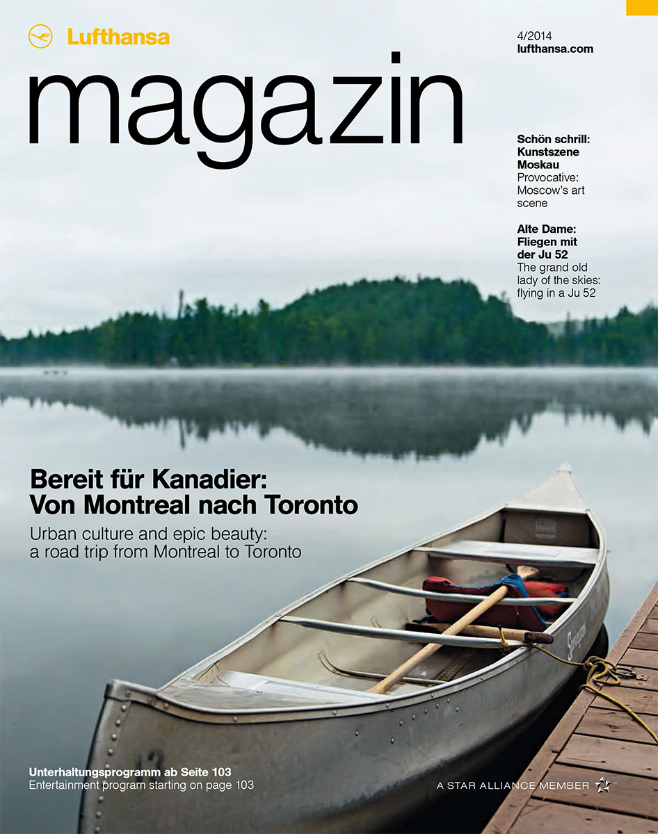 Just Off The Press: Montreal – Toronto Road Trip cover story for Lufthansa Magazin – April 2014