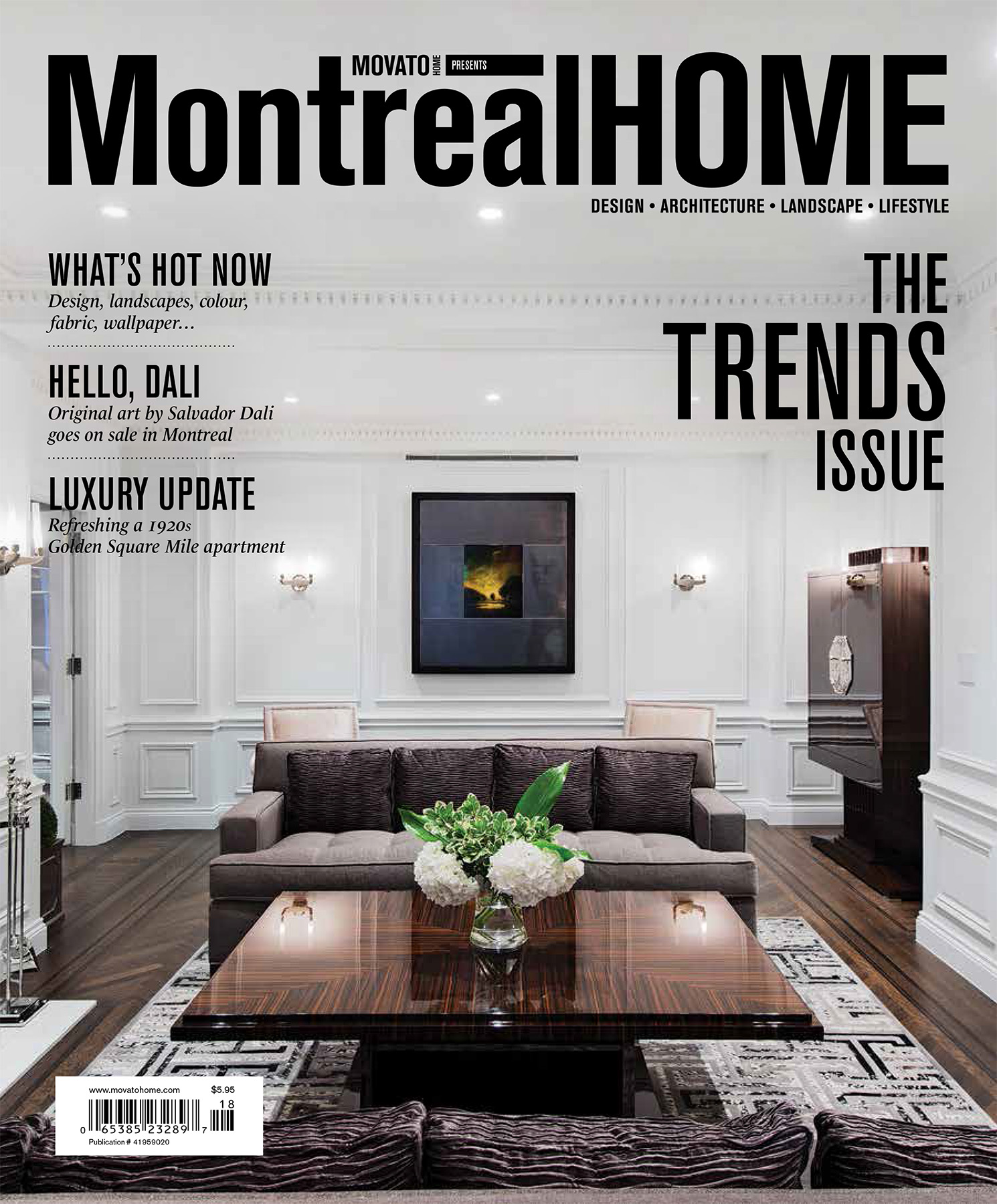 Montreal Home Magazine Cover - Trend Issue 2014