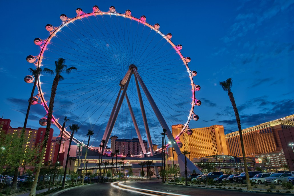 Exploring Las vegas Architecture: High Roller Ferris Wheel at The Linq by Klai Juba Architects