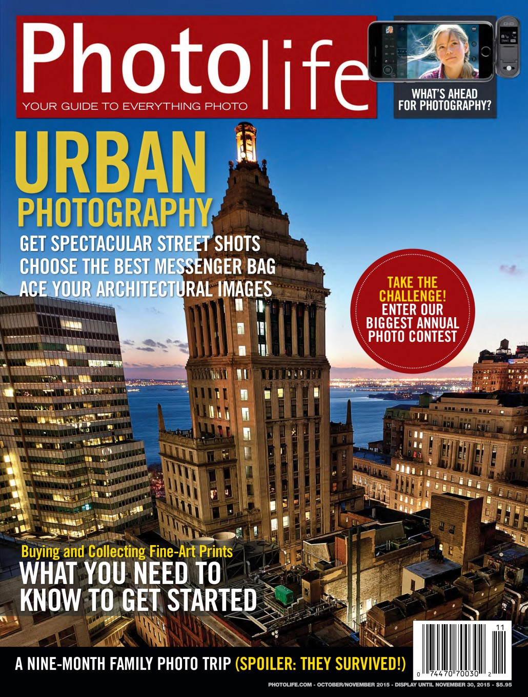 Just Off The Press: Cover for PhotoLife Magazine Oct/Nov 2015
