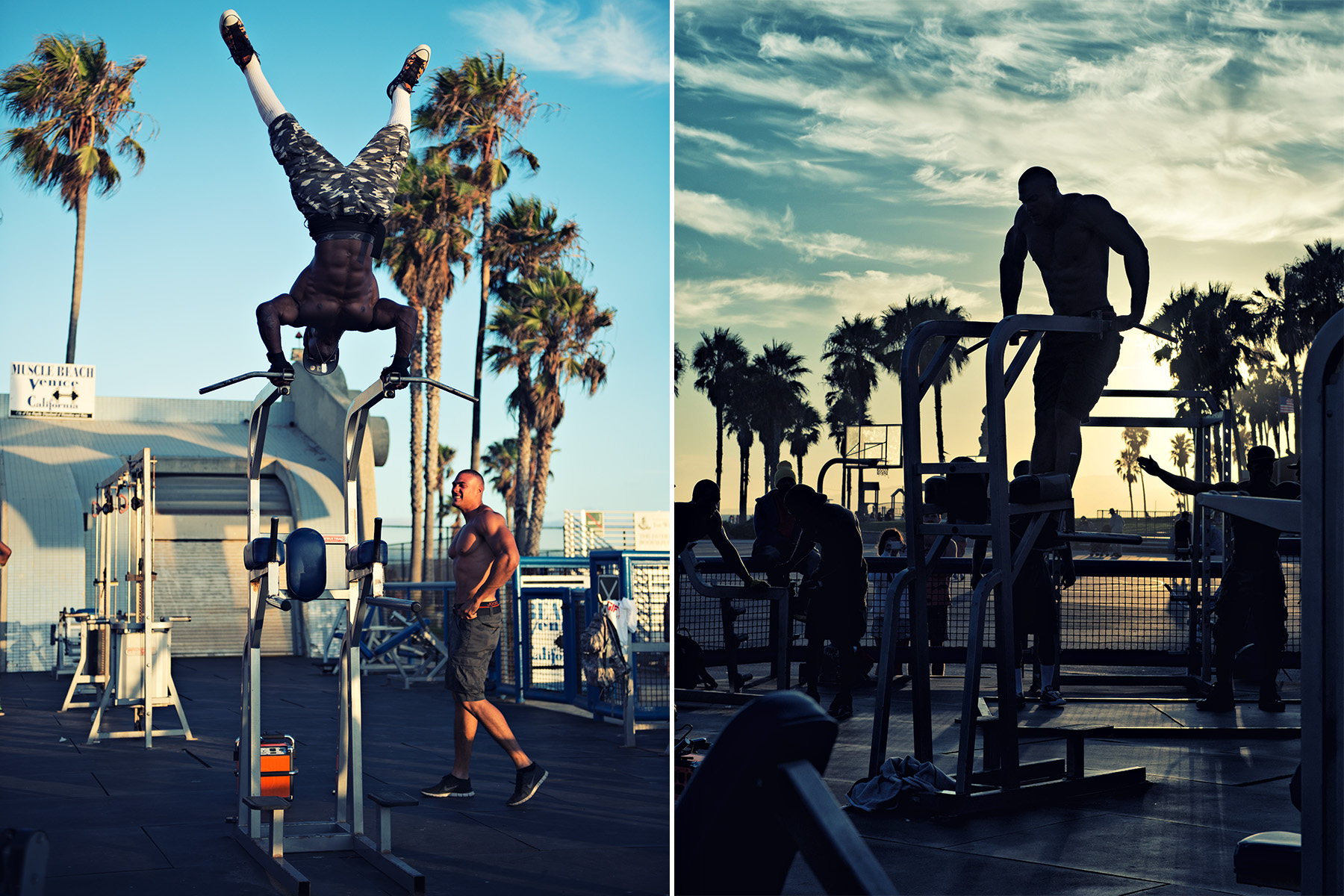 body builders at Muscle Beach Venice