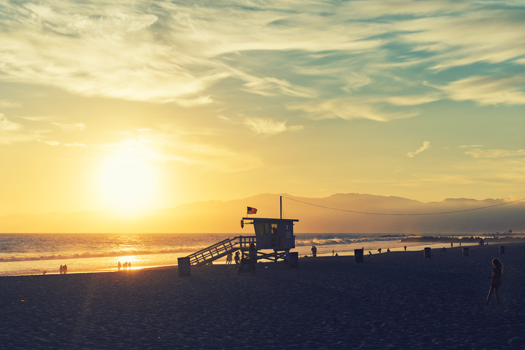 Sunset on Venice Beach from the fishing pier